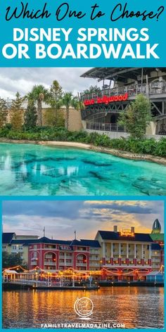 Disney Springs vs Disney Boardwalk: An overview of the restaurants, shops, and other things to do at these two Walt Disney World resort areas that are fun to visit with and without kids.