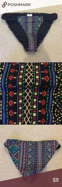 Xhiliration bikini bottoms Xhiliration bikini bottoms. Black tribal print. Size small. Excellent condition. Xhilaration Swim Bikinis