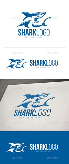 Shark Logo by Disigma LOGO TEMPLATE Logos are vector based built in Illustrator software. They are fully editable and scalable without losing resolutio