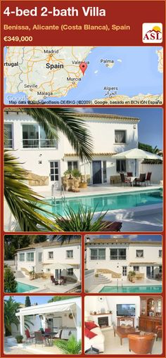 4-bed 2-bath Villa in Benissa, Alicante (Costa Blanca), Spain ►€349,000 #PropertyForSaleInSpain