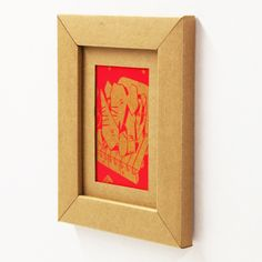Recycled Cardboard Frame - Very cool.