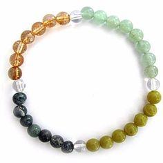 Gemstone ENERGY BRACELET Crystal Healing - WEALTH - Crystal Rock Emporium