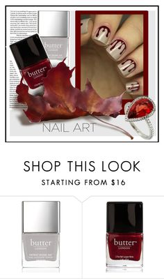 """""""nail art"""" by sandevapetq ❤ liked on Polyvore featuring Butter London"""