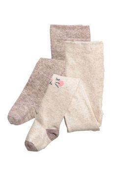 2 kpl sukkahousuja - Harmaanruskea/Kissa - Kids   H&M FI