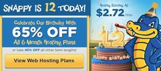 Not a surprise that HostGator has come up with yet another exclusive discount offer for all its valuable customers. This time on the occasion of its 12th Anniversary, HostGator is offering a huge discount of up to 65% on all new Hosting packages. Activation Code: http://gethostgatorcoupons.com/hostgator-anniversary-sale-coupon-code-flat-65/