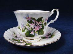 ROYAL ALBERT Mayflower Cup and Saucer Set Bone China England 6 Oz #RoyalAlbert #Victorian