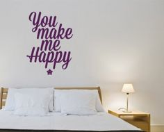 You make me happy You Make Me Happy, English, Quotes, How To Make, Home Decor, Little Cottages, Quotations, Decoration Home, Room Decor