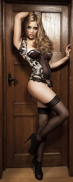 Animal Print #Lingerie - Bodysuit/Garter Belt & Lacy Undies