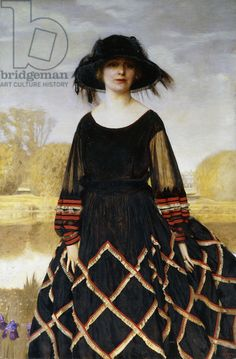 Portrait of Lady Gordon Taylor , 1923 by Frank Cadogan Cowper (British 1877-1958), Private Collection)