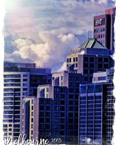 some close up shots of buildings in #Melbourne back in 2005 . . . #buildings #myphotos #clouds #cityscape #digitalphotography #fluffyclouds #digitalpainting #tm