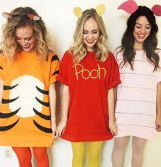 Winnie the Pooh Halloween - Winni. Winnie the Pooh Halloween - Winnie the Pooh Halloween - Cute Girl Costumes, Easy Disney Costumes, Cute Group Halloween Costumes, Theme Halloween, Halloween Outfits, Halloween Ideas, Teen Costumes, Halloween Photos, Halloween Design