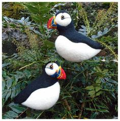 Needle felted Puffins - SShaw