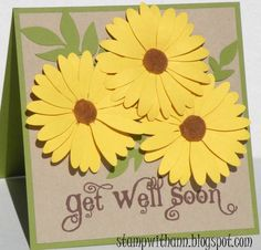 Get Well Daisies by amc2911 - Cards and Paper Crafts at Splitcoaststampers