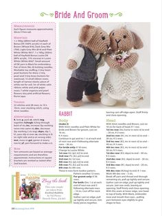 Knitting&crochet by Tanaba - issuu Knitted Bunnies, Knitted Animals, Knitted Dolls, Crochet Toys, Knit Crochet, Animal Knitting Patterns, Crochet Flower Patterns, Knitting Ideas, Knitting Stitches