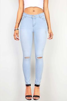 Distressed Maddy Skinny Jeans