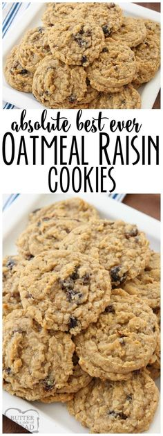 Oatmeal Raisin Cookies that truly are the BEST EVER! Oatmeal, raisins, pudding mix & spices combine in most delicious, soft & chewy Oatmeal Raisin Cookies. Soft Oatmeal Raisin Cookies, Oatmeal Rasin Cookie Recipe, Best Oatmeal Cookies Ever Recipe, Easy Oatmeal Cookies, Vanilla Pudding Cookies, Microwave Cookies, Oatmeal Scotchies, Best Cookies Ever, Oatmeal Muffins