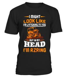 "# I'm Rzring T Shirt, In My Head I'm Rzring T Shirt .  Special Offer, not available in shops      Comes in a variety of styles and colours      Buy yours now before it is too late!      Secured payment via Visa / Mastercard / Amex / PayPal      How to place an order            Choose the model from the drop-down menu      Click on ""Buy it now""      Choose the size and the quantity      Add your delivery address and bank details      And that's it!      Tags: I Might Look Like I'm Listening…"