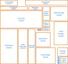 Web banner standard sizes.