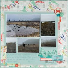 Vellum adds softness to a scrapbook layout. On this layout vellum softens the entire layout to matches the feeling in the misty photos on the page.