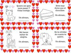 valentines day writing prompts, activities and valentine cards for elementary students 100% in Spanish.  $
