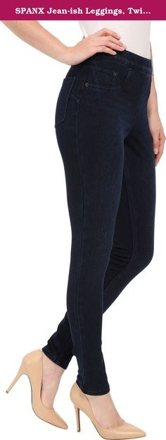 SPANX Jean-ish Leggings, Twilight Rinse, Medium. Get the denim look with the Spanx Jean-ish Leggings. These jean inspired bottoms are designed with an inner mesh shaping panty and wonderfully soft twill, gracing your lower half with a flattering fit. Leggings Super slimming level Gunmetal rivets Slim's built-in, inner mesh shaping panty Dual faux front pockets Functional back pockets Soft, twill fabric for all-day comfort Mesh: 59% Nylon, 41% Spandex/Elastane Body: 69% Cotton, 26%…
