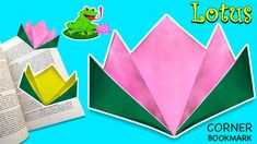How to make easy lotus (water lily) bookmark corner with 2 colours! Combine your favourite colours to create your own easy lotus bookmark corner. Use best colour matches as diy decor ideas! Paper Bookmarks, Corner Bookmarks, Favorite Color, Your Favorite, 2 Colours, Make It Simple, Lotus, Create Your Own, Lily