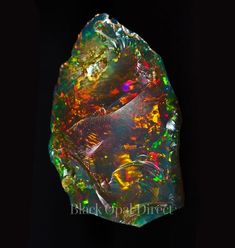 The world's rarest opal: Part 1 - Black Opal Direct - Opale # Climatechangeprotestsigns # Outdoorkitchenbars Black Gems, Black Crystals, Stones And Crystals, Gem Stones, Swarovski Crystals, Minerals And Gemstones, Rocks And Minerals, Beautiful Rocks, Mineral Stone