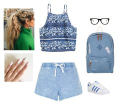 """Boho Sports Look"" by hanakdudley ❤ liked on Polyvore featuring New Look, Herschel, adidas and Muse"