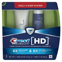 Crest Pro-Health HD Toothpaste Best Whitening Toothpaste, Teeth Whitening Remedies, Natural Teeth Whitening, Whitening Kit, Skin Whitening, Best Drugstore Products, Drugstore Makeup, Makeup Products, Beauty Products