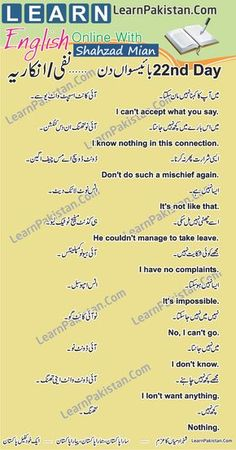 Urdu to English Sentences With Their Meaning For Daily Use. English to Urdu Sentences for Daily Use - Earn Money Online English Speaking Book, English Grammar Book Pdf, English Language Course, Learning English Online, English Vocabulary Words, Learn English Words, English Phrases, English Language Learning, English English