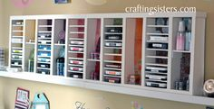 Organize your ink pads, stamps or supplies, all you need is a glue gun and foam board!