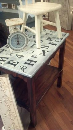 Alphabet Table  @All Dolled Up