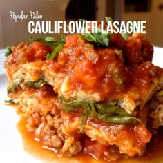 This sounds deadly! Grain free & Dairy free.   Cauliflower Lasagne | Popular Paleo