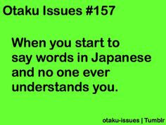 Otaku Issues <--- yeah this is me. and not it's not just Japanese sometimes either :)