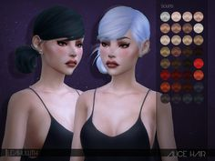 Alice Hair  Found in TSR Category 'Sims 4 Female Hairstyles'