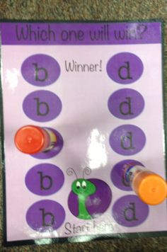 Working on 'b' and 'd' reversals!