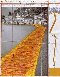 Christo and Jeanne-Claude, Wolfgang Volz · The Floating Piers, Project for Lake Iseo, Italy.