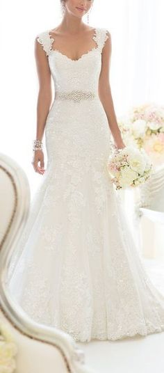 Elegant Off-Shoulder Crystal Lace Wedding Dress - Cute Dresses || More at http://www.cutedresses.co/product/elegant-off-shoulder-crystal-lace-wedding-dress/