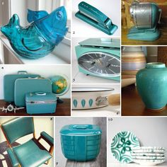 I Was Sitting Here Looking At All The Vintage Teal Turquoise Items