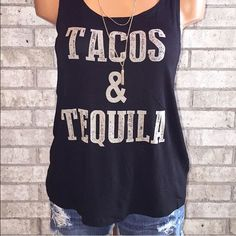 Taco and tequila tank New with tag!!  Tops Tank Tops