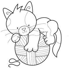Marisa Straccia: Cat embroidery designs