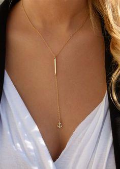 Bar gota ancla collar / collar del ancla Simple barra collar