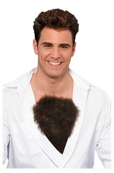 "NO.  NOT ACCEPTABLE. NO FAKE CHEST HAIR!!   This ridiculous ""chest merkin"" is an insult to naturally hirsute men everywhere and unfit to absorb a single molecule of my tears."