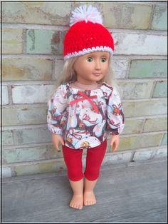 American Girl Doll Clothes Christmas by BarbieBoutiqueBasics