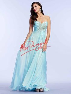 Ice Blue Prom Dress | Princess Gown | Lace Dress | Mac Duggal 78437M
