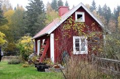 red and white cottage