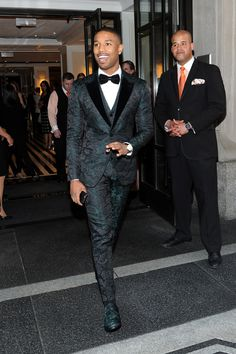 Michael B lookin' gorgeous 2015 Met Gala this would be the only time to wear this tux.