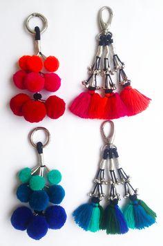 Angoor & Paranda Danglers 2016 - Acrylic wool, Silver zari, mini silver bells, Metallic dog hooks