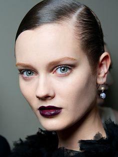 Bottega Veneta deep burgundy lipstick