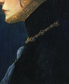 Head of a Lady in Medieval Costume (detail), Lucien Victor Guirand de Sccevola, 1900